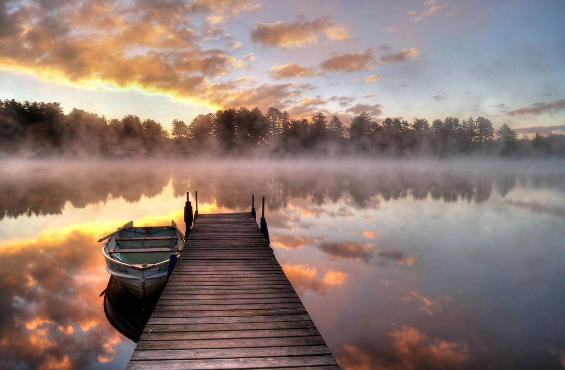 Фото бесплатно пирс, озеро, отражение - на рабочий стол