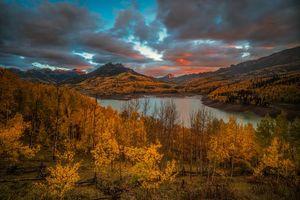 Бесплатные фото San Juan Mountains, Colorado, осень, озеро, горы, деревья, лес