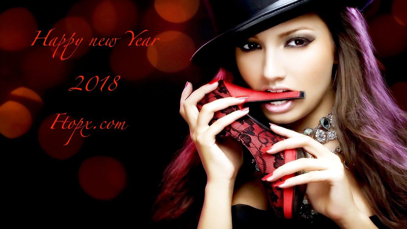 Photos for free brunette, sensual lips, stiletto - to the desktop