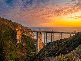 Photo free sunrises and sunsets usa, coast usa, USA