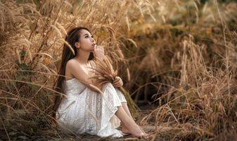 Фото бесплатно женщина, коричневые волосы, азиатка