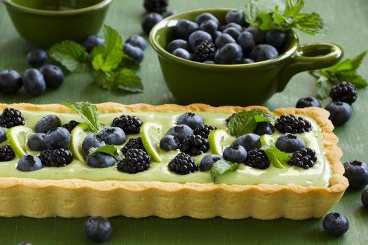 Photo free baking, cake, blueberries