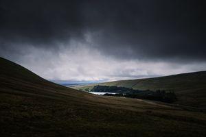 Фото бесплатно нагорье, озеро, горизонт