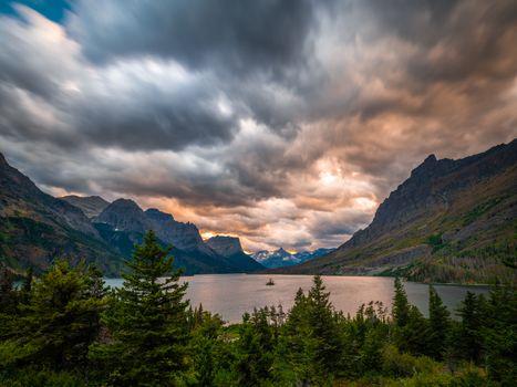 Фото бесплатно природа сша, горы облака, горное озеро