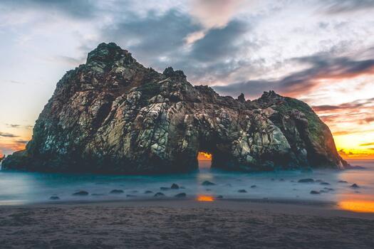 Photo free sunrise, shore, dawn