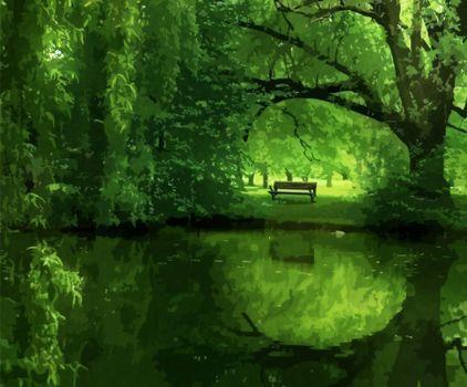 Photo free Rendering, pond, lake
