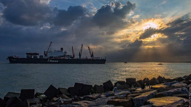 Фото бесплатно корабли, Нидерланды, утро