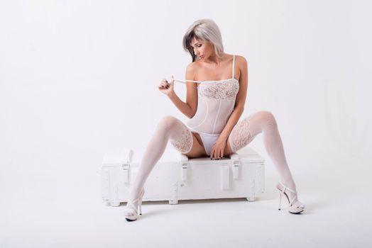 Photo free woman, model, white