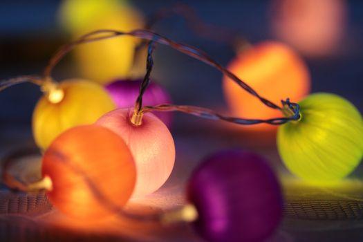 Фото бесплатно шары, гирлянды, красочный