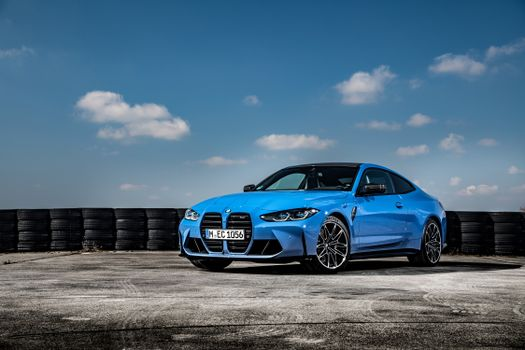 Photo free BMW M4, coupe, light blue metallic