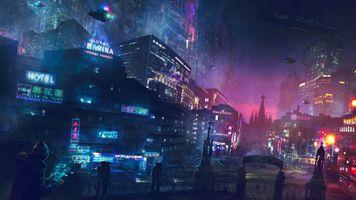 Фото бесплатно цифровое искусство, научная фантастика, город