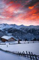 Фото бесплатно зима, горы, рассвет