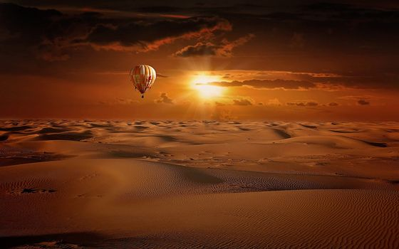 Photo free air balloon, nature, desert