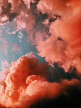 Фото бесплатно облака, закат, оранжевый