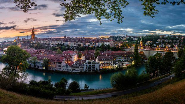 Photo free cities, Switzerland, panoramic