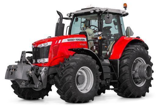 Заставки трактор, белый фон, красный