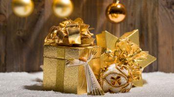 Бесплатные фото золото,декор,праздник,новый год,