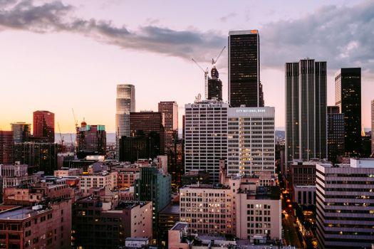 Photo free city, building, district
