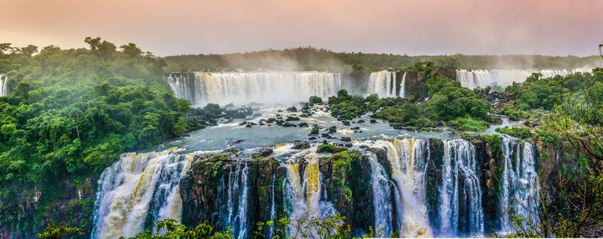 Бесплатные фото Бразилия,штат Рио-Гранде-ду-Сул,скала,водопад,деревья,пейзаж,Бразильские водопады,панорама