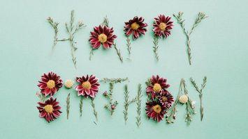 Фото бесплатно cvety, prazdnik, fon