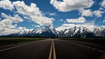 Заставки долгая дорога, поля, горы