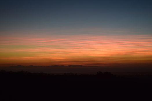 Потрясающий закат солнца