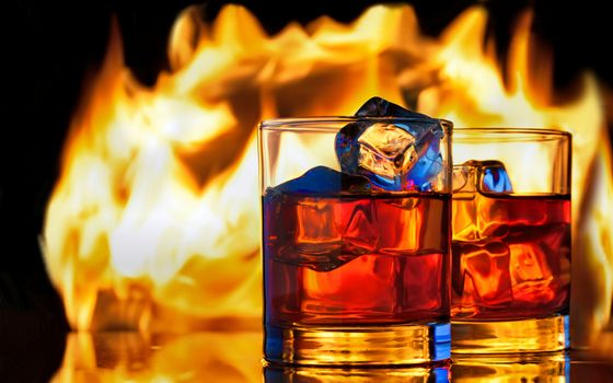 Photo free whiskey, drink, ice cube
