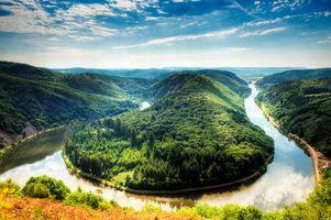 Фото бесплатно Германия, река Савл, Mettlach