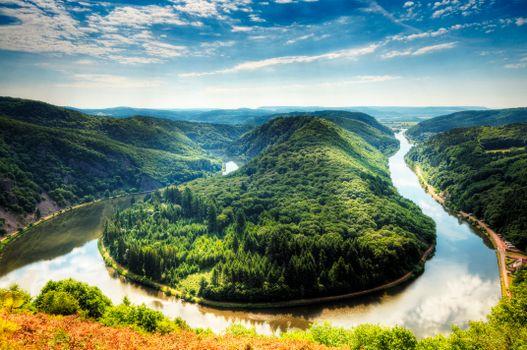 Заставки Германия, река Савл, Mettlach