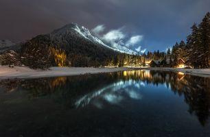 Фото бесплатно Словения, Альпы, ночь