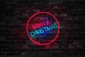 Фото бесплатно рождество, надпись, подсветка