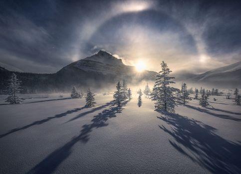 Фото бесплатно Jasper, Canada, зима