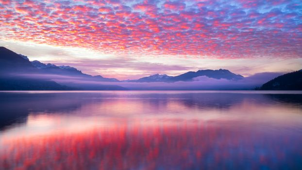Photo free beautiful sky, mountains, reflection