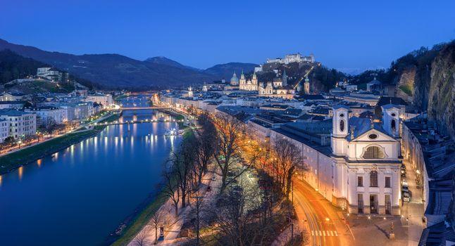 Заставки Salzburg, Austria, ночь