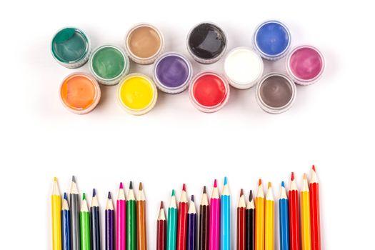 Фото бесплатно разное, карандаши, краски