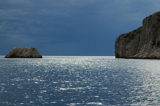 Фото бесплатно море, закат, камни