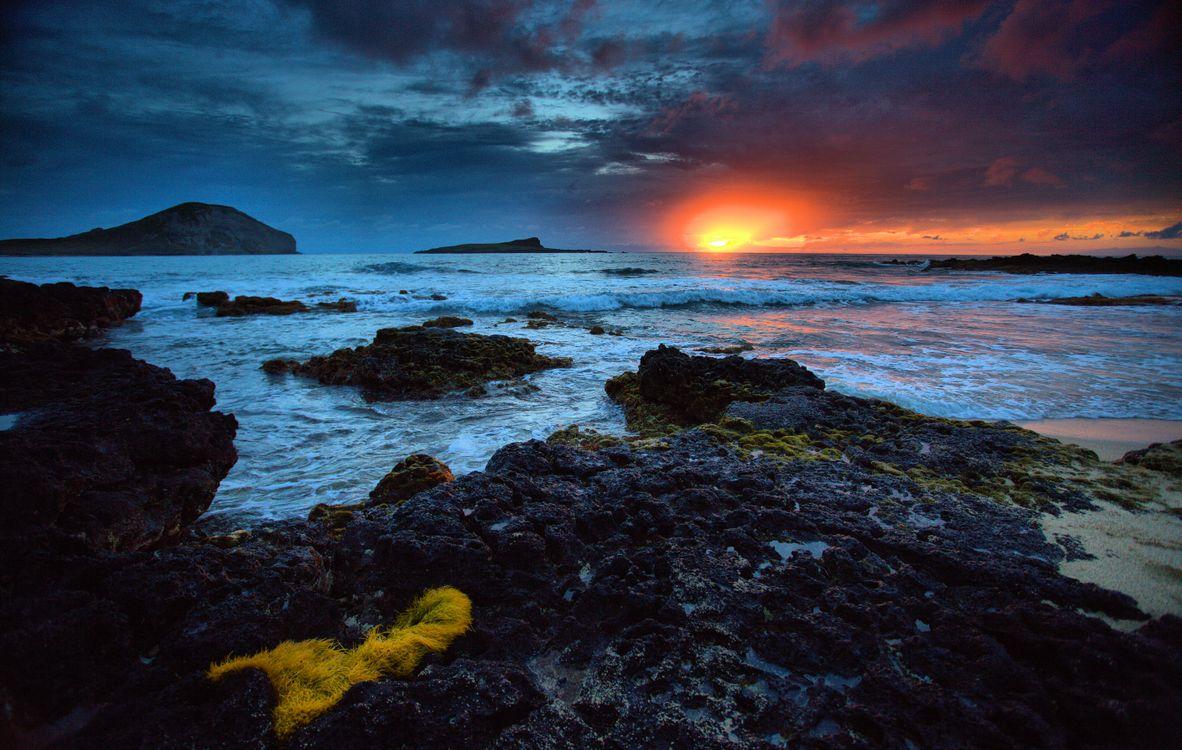 Фото бесплатно закат, море, берег - на рабочий стол