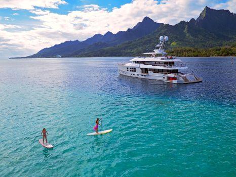 Фото море, яхта в хорошем качестве