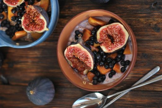 Photo free Breakfast, oatmeal, figs