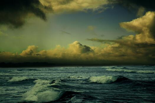 Photo free evening, sunset, wind wave