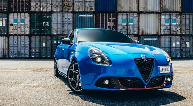 Photo free cars, Alpha Romeo, blue