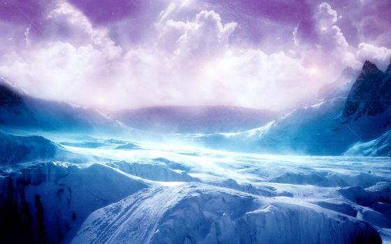 Фото бесплатно волна, горы, облака