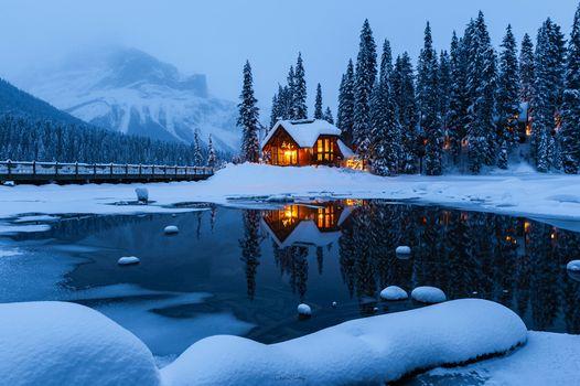 Фото бесплатно Emerald Lake, Yoho National park, Канада