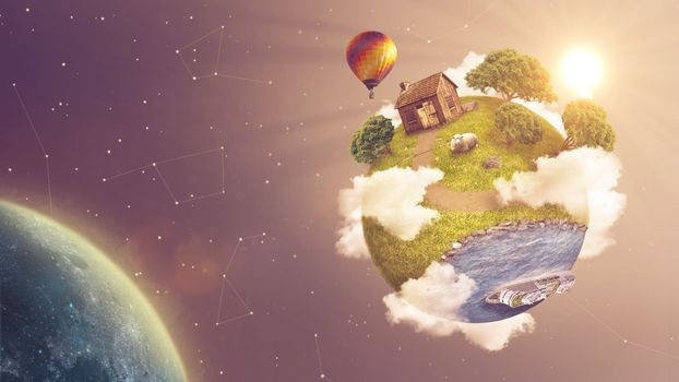 Photo free graphics, green, planet