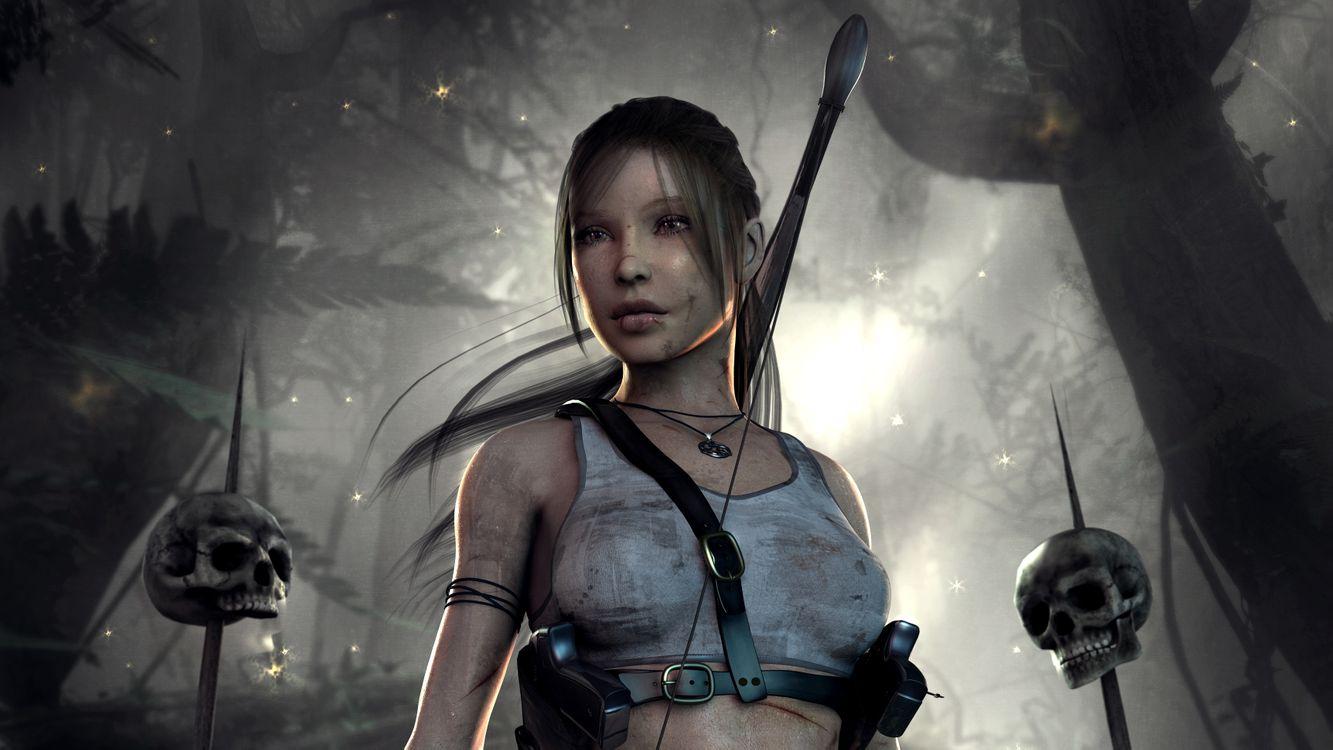 Обои Lara Croft, работа, Digital Art картинки на телефон
