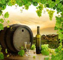 Фото бесплатно стол, вино, виноград