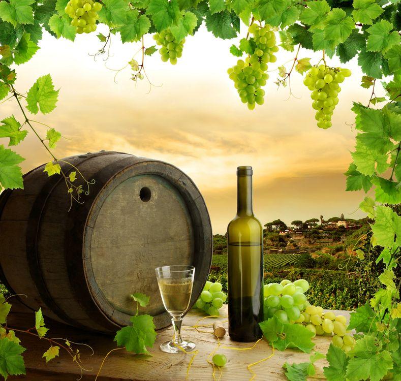 Фото бесплатно стол, вино, виноград - на рабочий стол