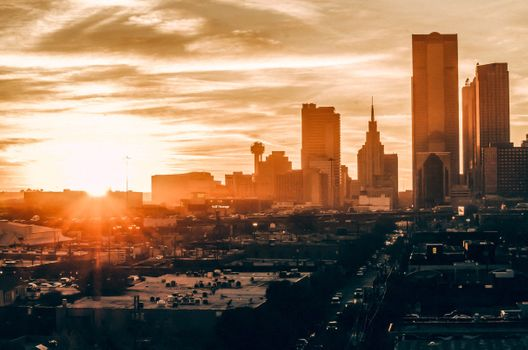 Photo free buildings, sunset, city