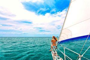 Фото бесплатно море, яхта, девушка