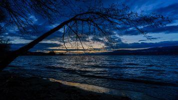 Фото бесплатно ночь, сумерки, река